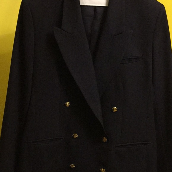 Austin Reed Jackets Coats Austin Reed Navy Blue Double Breasted Blazer Poshmark